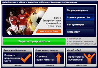 Pinnacle sports регистрация
